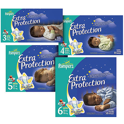 Pampers - Extra Protection Nighttime Diapers Super Pack (Choose Your Size)