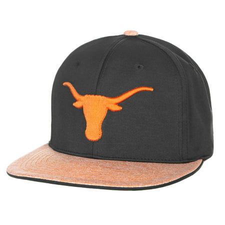Men's Black/Texas Orange Texas Longhorns Lismore Flat Adjustable Hat - OSFA (Texas Longhorn Hats)