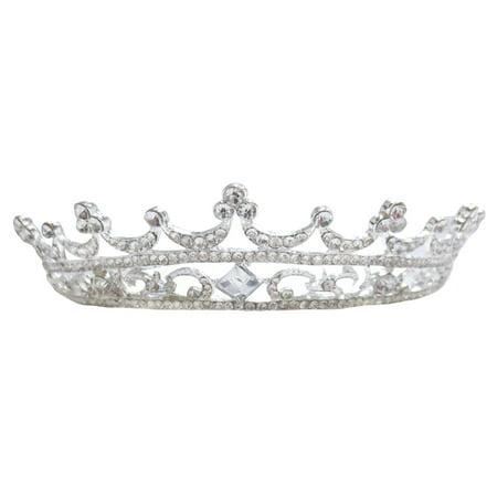 Pretty Crystal Crown Wedding Birthday Celebration Headband Tiara - Tiara Head Band