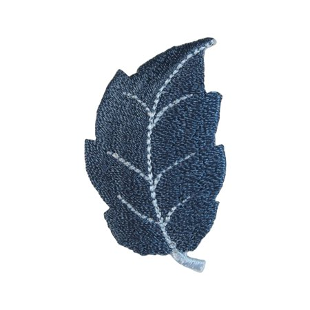 ID 1422A Winter Fallen Leaf Patch Frost Tree Leaves Embroidered Iron On Applique