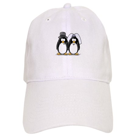 CafePress - Bride And Groom Penguins - Printed Adjustable Baseball Cap