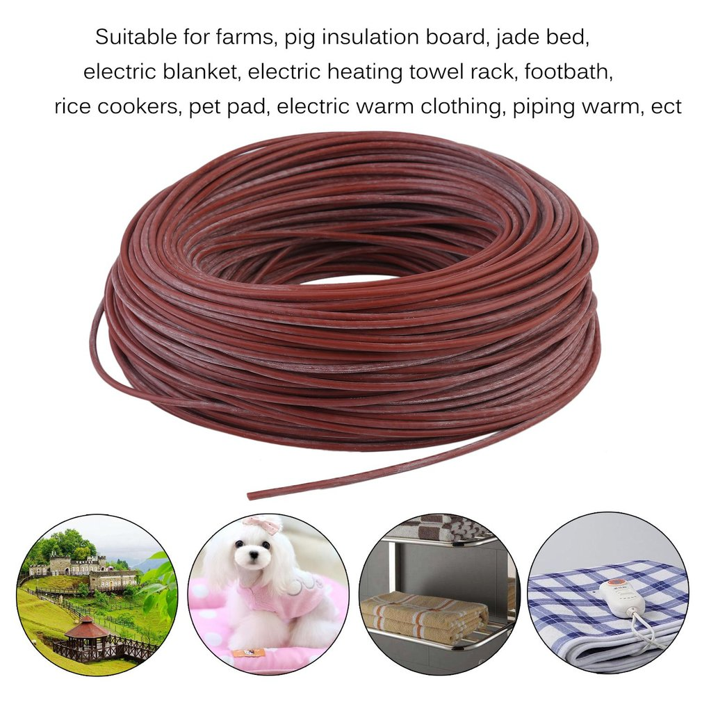 Portable Silicone Carbon Fiber Wire Electric Heater Hotline For Floor Heating