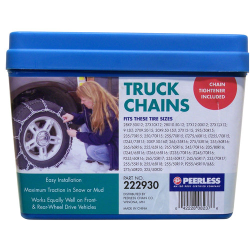 Peerless Truck Tire Chains with Rubber Tighteners, #222930