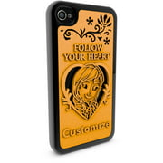 Apple iPhone 4 and 4S 3D Printed Custom Phone Case - Disney Frozen - Anna