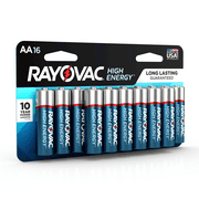 Rayovac High Energy Alkaline, AA Batteries, 16 Count