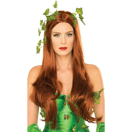 Poison Ivy Washable Wig for Adults Halloween Accessory, One Size