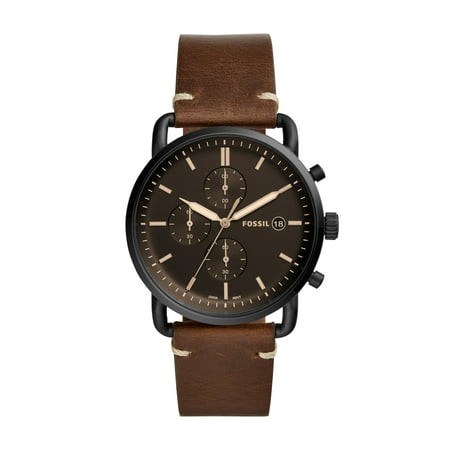 Fossil Men's Commuter Chronograph Brown Leather Watch (Style: (Fossil Men Watch)