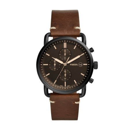 Fossil Men's Commuter Chronograph Brown Leather Watch (Style: FS5403) ()