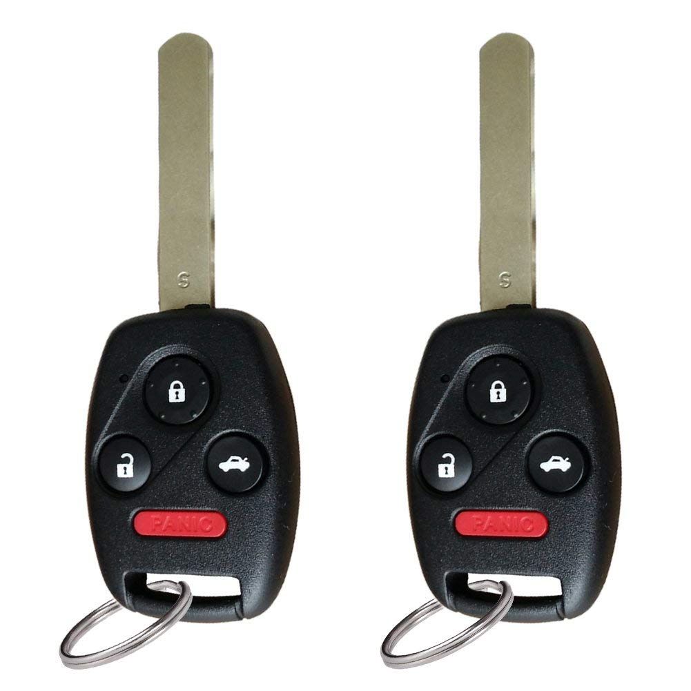 2pcs For 2003 2004 2005 2006 2007 Honda Accord Keyless Entry Remote Car Key Fob Oucg8d 380h A With 46 Chip