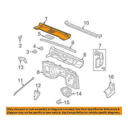 jeep chrysler oem wrangler-cowl panel windshield wiper motor cover  55174636ab - walmart com
