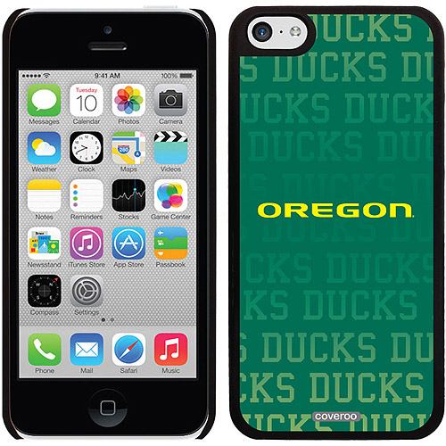 Coveroo Oregon Ducks Repeating Design Apple iPhone 5c Thinshield Snap-On Case