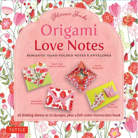 Origami Love Notes Kit : Romantic Hand-Folded Notes & Envelopes: Kit with Origami Book, 12 Original Projects and 36 High-Quality Origami - Origami Kit
