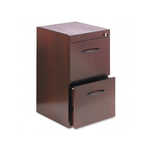 Pedestal Files for Credenza/Return File-File-Finish:Mahogany Veneer