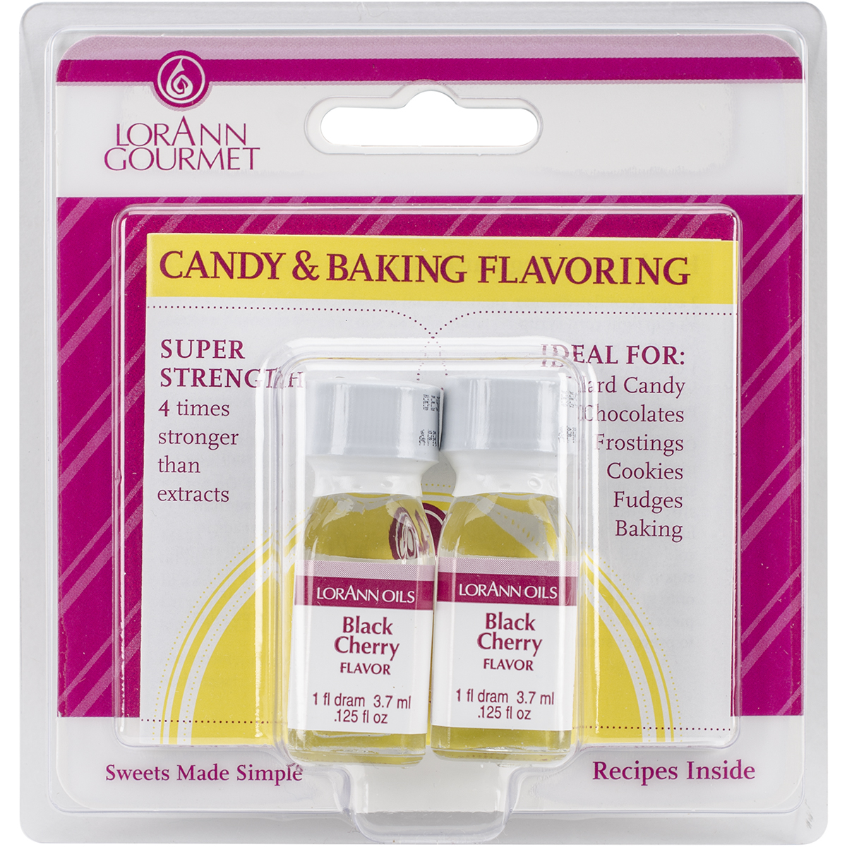 Candy & Baking Flavoring .125oz 2/Pkg-Black Cherry