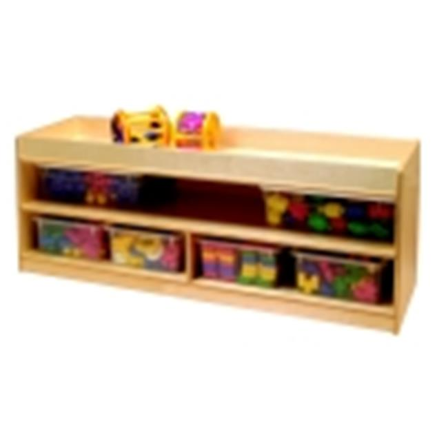 Toddler Storage With Mirror Back by PlushDeluxe