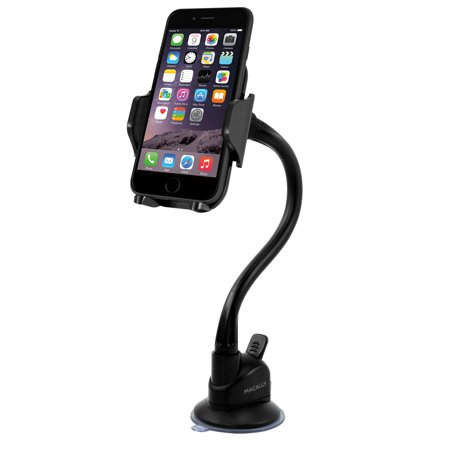 Macally MGRIP Swivel Holder & Flexible Suction Cup Mount For Most Devices Electronic Computer (New Suction Cup)