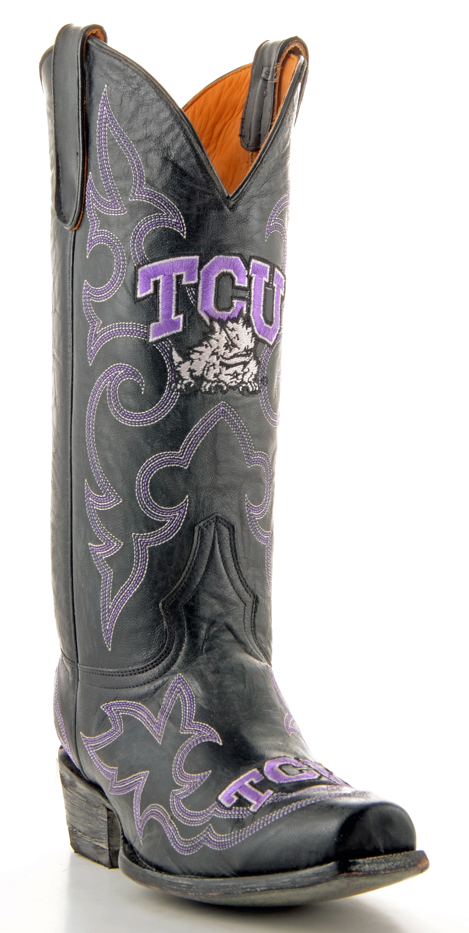 Gameday Boots Mens Leather Texas Christian Cowboy Boots by GameDay Boots