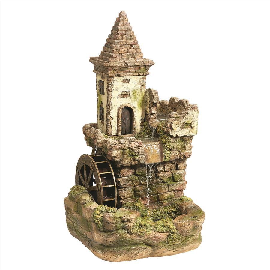 Fairy Village Waterwheel Sculptural Fountain by Design Toscano