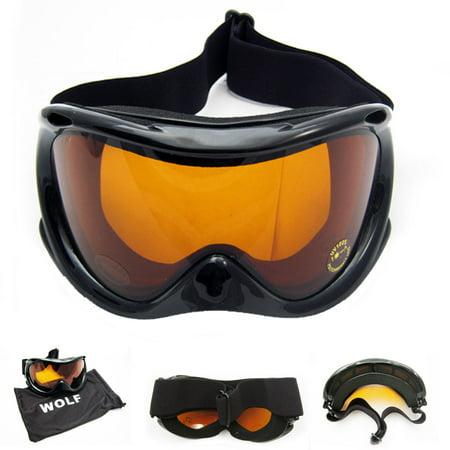 Snow Ski Goggles Snowboard Glasses Skiing Sun Sport Sunglasses Men Women Black