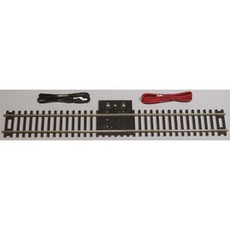 "Code 83 Nickel Silver 9"" Straight Terminal Track w/Wire HO Scale Trains, Simulated brown wood ties By Atlas"