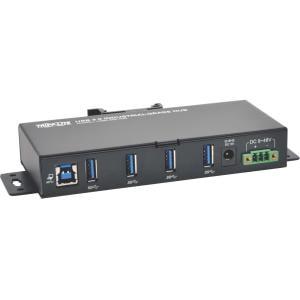 Tripp Lite 4-Port Industrial USB 3.0 SuperSpeed Hub 15KV ESD Immunity Metal