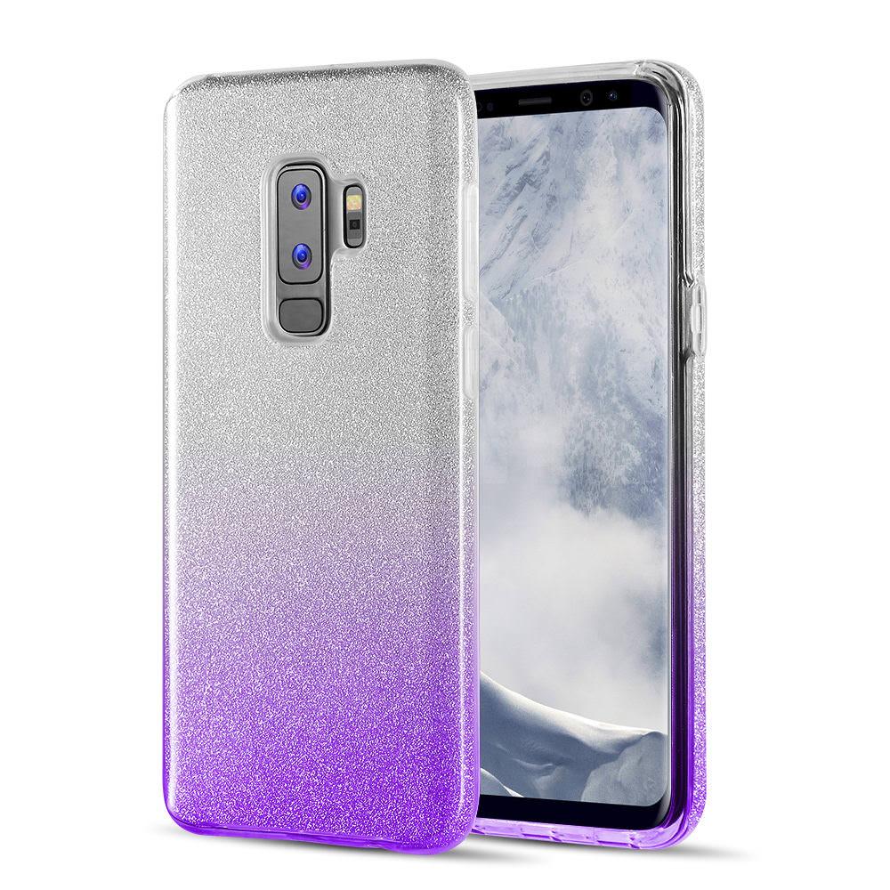 MUNDAZE Purple Glitter Dazzle Case For Samsung Galaxy S9 Phone