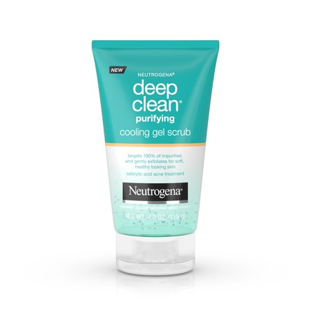 Neutrogena Deep Clean Purifying Cooling Gel and Face Scrub, 4.2