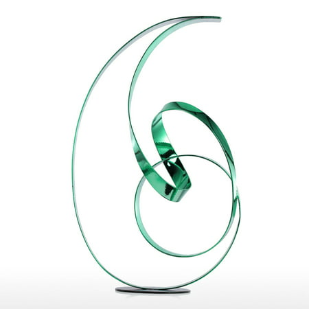 Tooarts The Standing Ribbon Metal Sculpture Modern Sculpture Abstract Sculpture Freestanding Sculpture Indoor Outdoor Sculpture for Home or Hotel ()