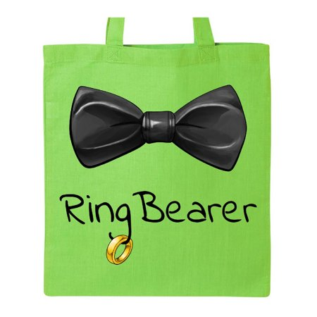 Ring Bearer- black bow tie Tote Bag (Ring Bearer Tote)