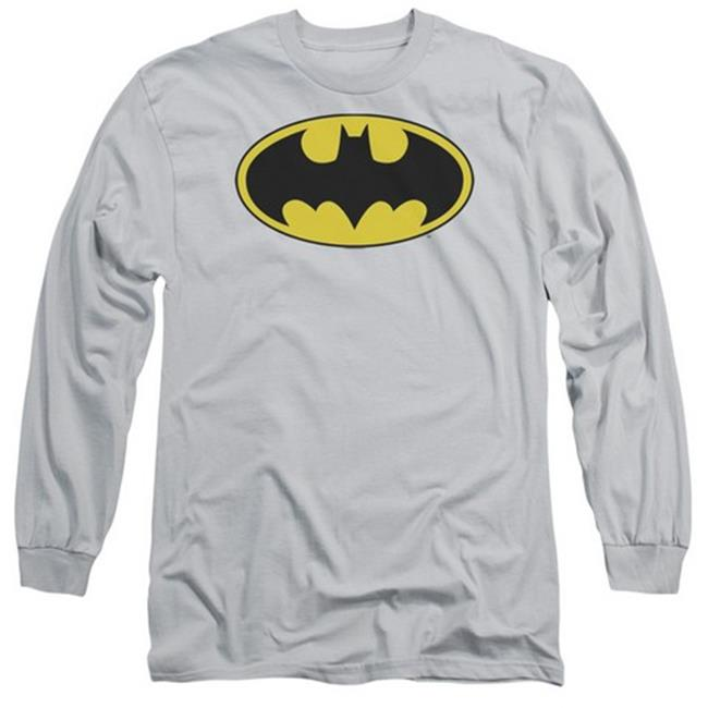 BATMAN//BATS LOGO-S//S YOUTH POLY CREW-WHITE-small