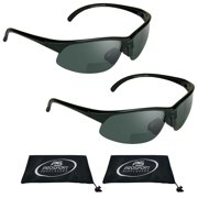 proSPORT 2 Pairs of Bifocal Reading Sunglasses for Men and Women. Available with +1.50, +1.75, +2.00, +2.25, +2.50, +3.00.