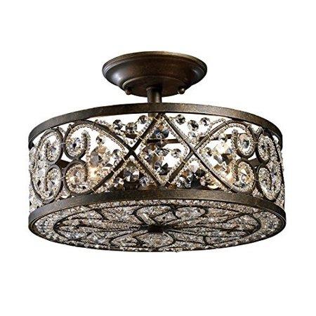 Elk Lighting 11286 4 Amherst Light Crystal Semi Flush Mount Ceiling Fixture