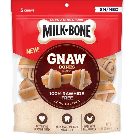 Milk-Bone Gnaw Bones Chews, Rawhide-Free, Chicken, Small-Medium, 9.6 Oz.