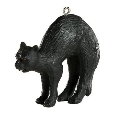 HorrorNaments Black Cat Halloween Christmas Tree Ornament - Black Cat Decorations