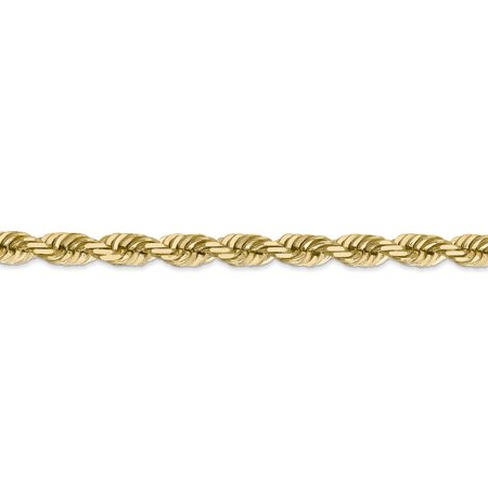 14K Yellow Gold 5.5mm Diamond Cut Rope With Lobster Clasp Chain Anklet 9 IN - image 2 de 4