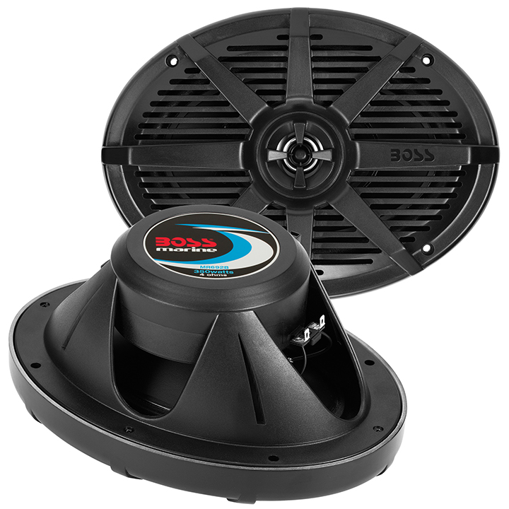 "Boss Audio MR692B Boss 6x9"" 2-way Coaxial Marine Speaker 350w Black"