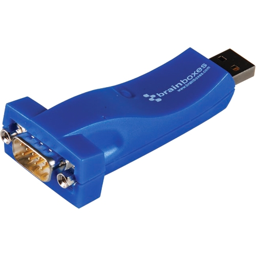 Usb To Serial Adapter - Type A Usb To Db-9 Male - Brainboxes Us-324-001 (us324001)