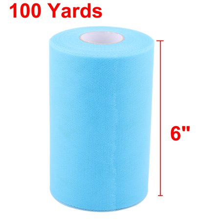 Home Dress Tutu Gift Decor Craft Tulle Spool Roll Sky Blue 6 Inch x 100 Yards - image 1 of 5