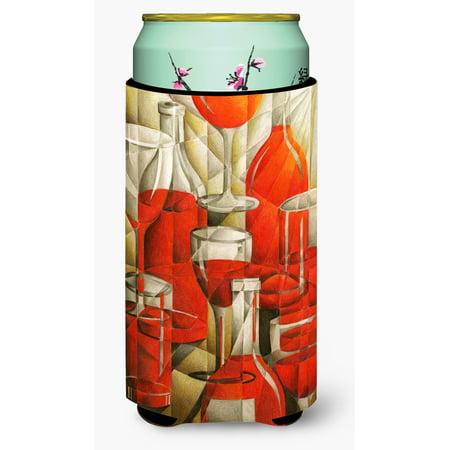 - Red Wine Bottles and Glasses Tall Boy Beverage Insulator Hugger BTBU0174TBC