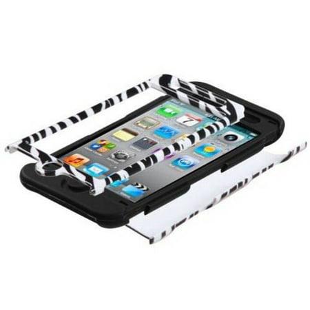 Apple iPod touch 4 MyBat Tuff Hybrid Protector Case, Zebra Skin/Black ()