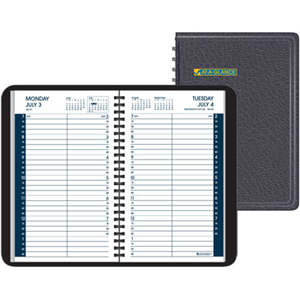 "At-A-Glance Daily Appointment Book - Daily - 4.87"" x 8"" - 7:00 AM to 7:45 PM - 1 Day Per 1 Page(s)"