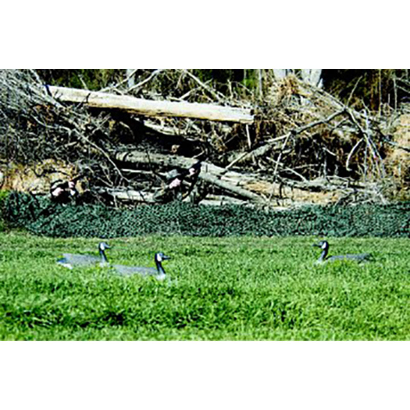 "Camo Unlimited Basic Military 9' 10"" x 9' 10"" Camouflage Netting, Woodland, Green and Brown"