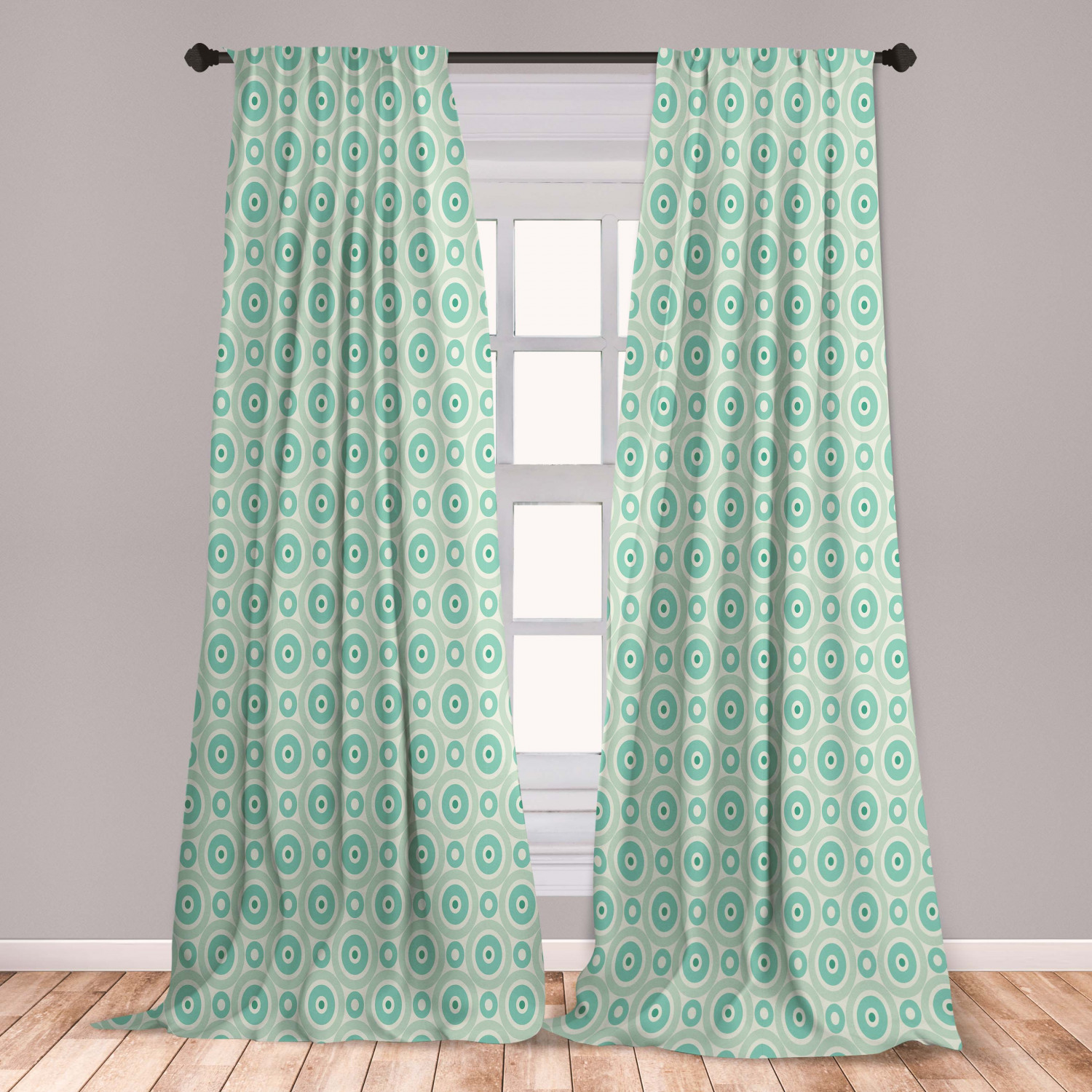 Mint Curtains 2 Panels Set And