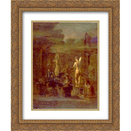 Thomas Eakins 2x Matted 20x24 Gold Ornate Framed Art Print 'Compositional Study for William Rush Carving His Allegorical Figure of the Schuylkill River' ()