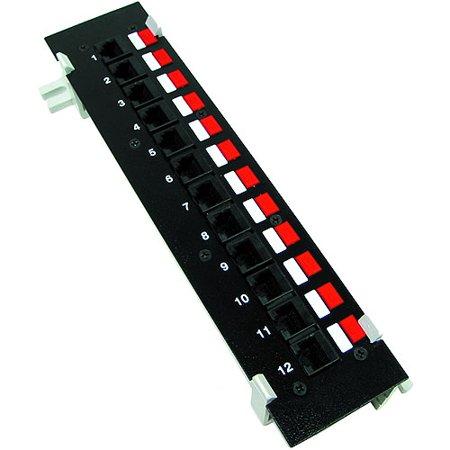 Cables Unlimited UTP-9000 12 Port Cat6 Surface Mount Patch Panel (Black)
