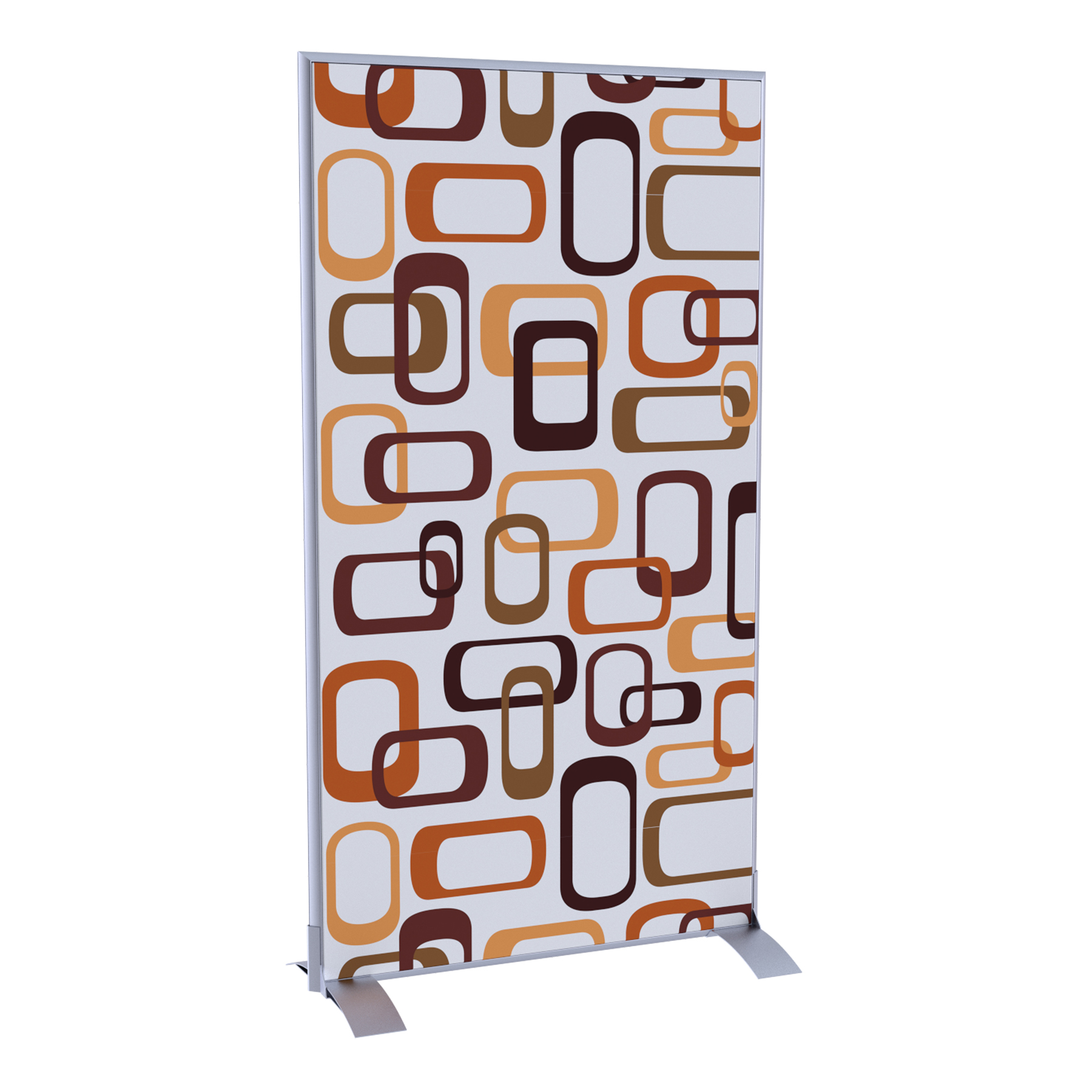 Paperflow EasyScreen Vertical Divider Screen, Interlocking Ovals