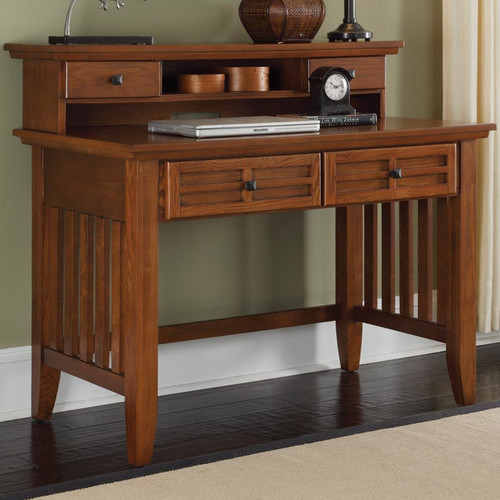 Home Styles Arts & Crafts Student Desk & Hutch in Cottage Oak