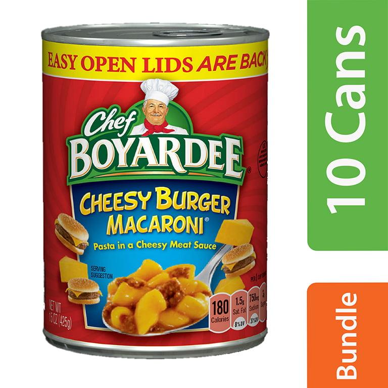 (10 Pack) Chef Boyardee Cheesy Burger Macaroni, 15 oz