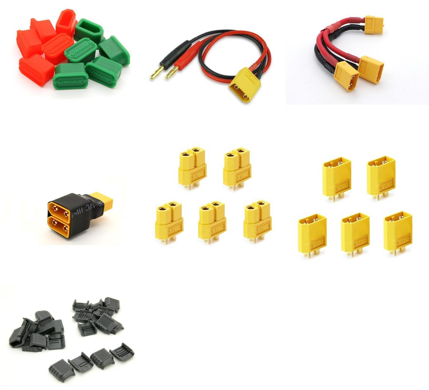 Many Helicopter Quadcopter Airplane Boat Car Controller [QTY: 1] Turnigy BigGrips Connector Adapters XT 60 Male Female (6 sets bag)... by