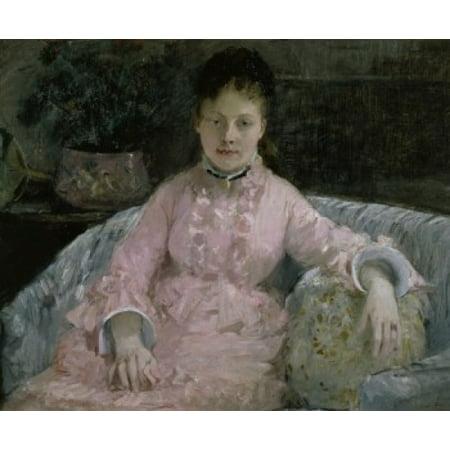 Woman In Pink   Femme En Rose   Berthe Morisot  1841 1895French   Annenberg Collection Palm Springs California Canvas Art   Berthe Morisot  18 X 24